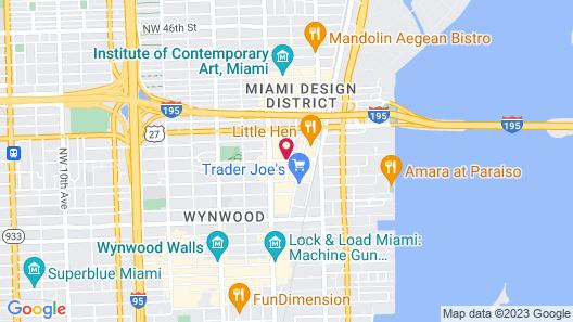 Hyde Suites Midtown Miami Map