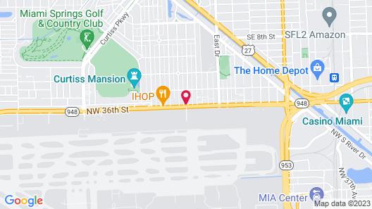 Wyndham Garden Miami International Airport Map