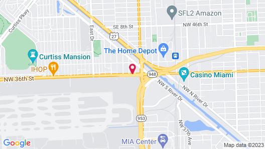 EB Hotel Miami Map