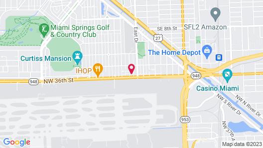 Comfort Inn & Suites Miami International Airport Map