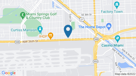 Comfort Inn & Suites Miami International Airport Map