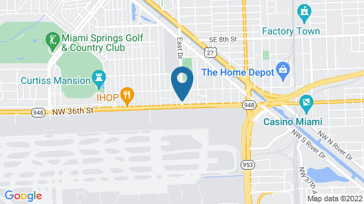 Runway Inn Miami International Airport Map