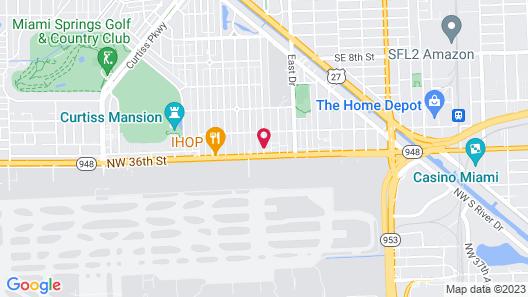 Comfort Suites Miami Airport North Map
