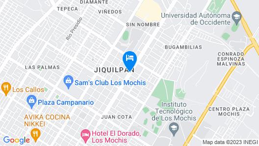 Hotel Las Fuentes Map