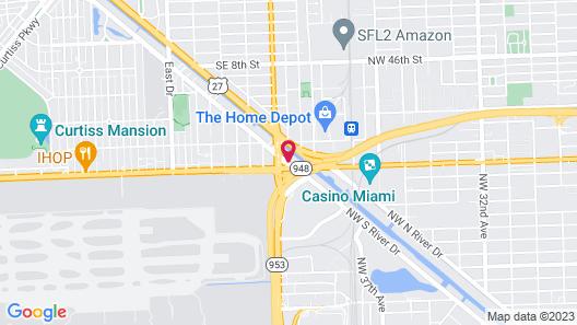 Holiday Inn Miami - International Airport, an IHG Hotel Map
