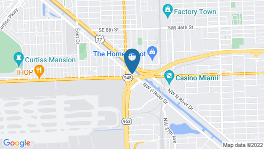 Holiday Inn Miami - International Airport, an IHG Hotel Map