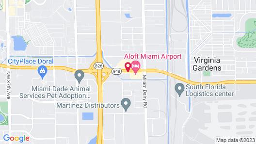 Motel 6 Miami, FL Map