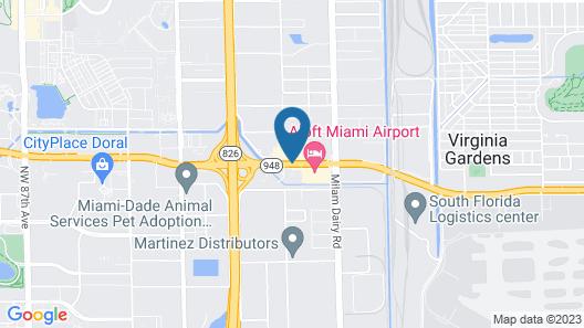 La Quinta Inn by Wyndham Miami Airport North Map