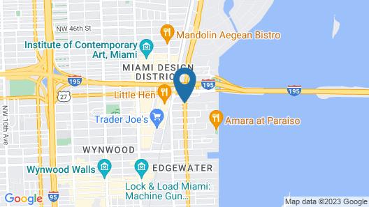 Hampton Inn & Suites Miami Wynwood Design District Map