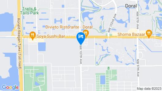 Baymont by Wyndham Miami Doral Map