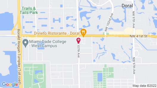 Best Western Plus Miami-Doral/Dolphin Mall Map