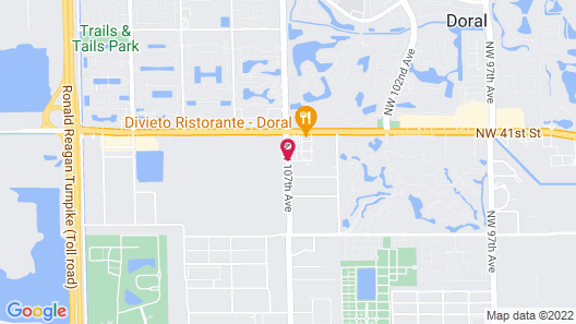 SpringHill Suites by Marriott Miami Doral Map