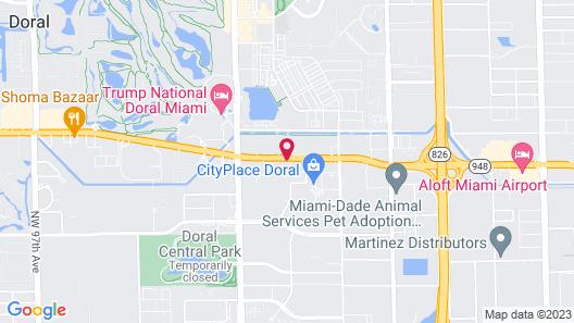 Holiday Inn Express Doral, an IHG Hotel Map