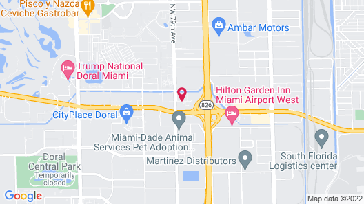 Courtyard by Marriott Miami Airport West/Doral Map
