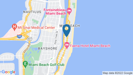 Hotel Croydon, a South Beach Group Hotel Map