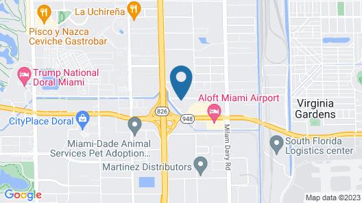 WoodSpring Suites Doral Miami Airport Map