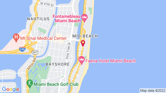 Circa 39 Hotel Miami Beach Map