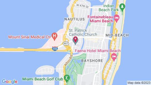 The Pelicano Suites Miami Beach Map