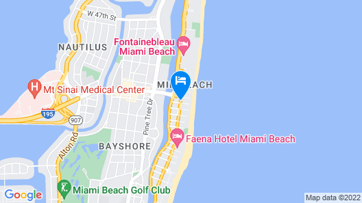 The Confidante Miami Beach - in the Unbound Collection by Hyatt Map