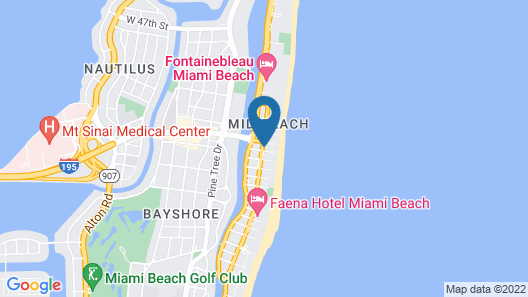 The Confidante Miami Beach, part of Hyatt Map
