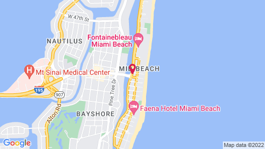 The L Hotel Map
