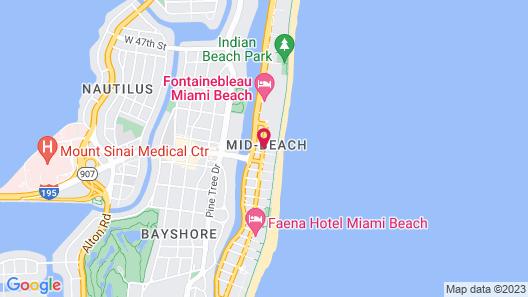 Lexington Hotel Miami Beach Map