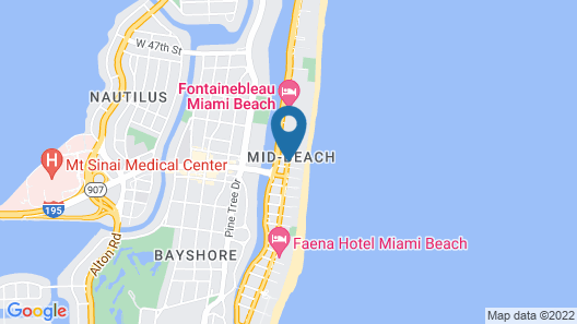 Lexington Hotel Miami Beach Map