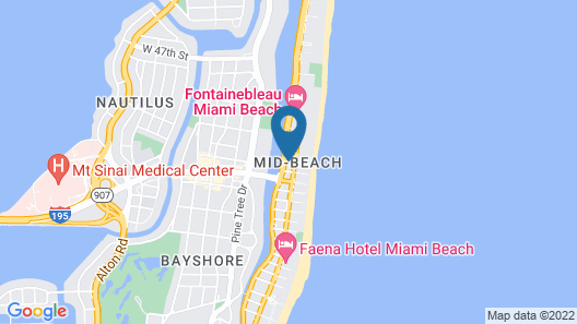 Notebook Miami Beach Map