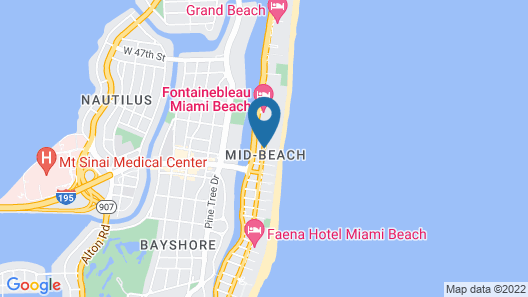 Holiday Inn Miami Beach - Oceanfront Map
