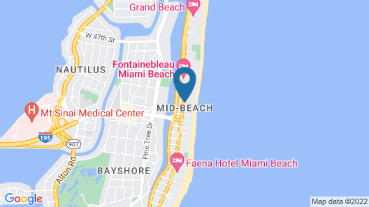 Holiday Inn Miami Beach - Oceanfront, an IHG Hotel Map