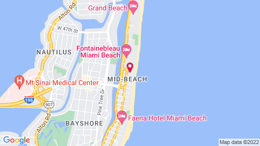 Radisson Hotel Miami Beach Map