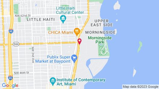 Travelodge by Wyndham Miami Biscayne Bay Map