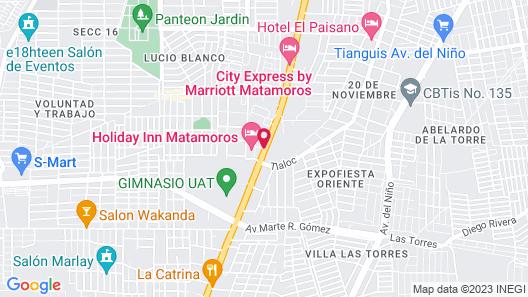 Holiday Inn Matamoros Map