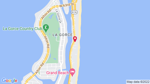 Beach Apartments - Free Parking Map