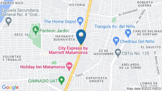 City Express Matamoros Map
