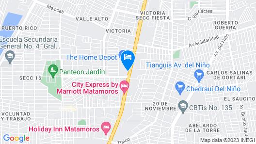 Hotel Residencial Inn Suites Map
