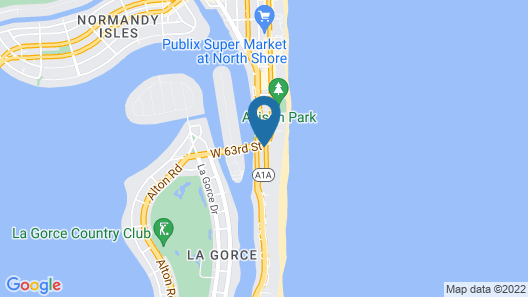 Oceanside Hotel and Suites, a South Beach Group Hotel Map