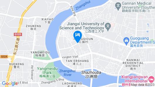 GreenTree Inn GanZhou Zhanggong District SanKang Temple RT-MART Express Hotel Map