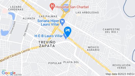 Hotel Mirage Express Map