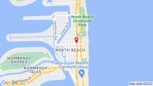 Beachside All Suites Hotel, a South Beach Group Hotel Map