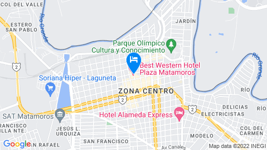 Best Western Hotel Plaza Matamoros Map