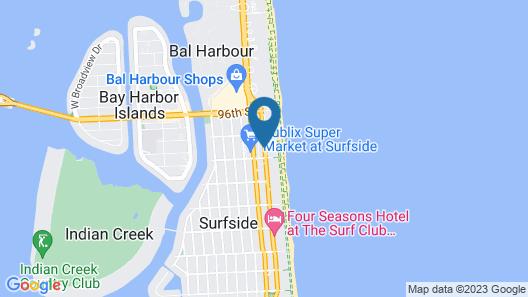 Grand Beach Hotel Surfside West Map