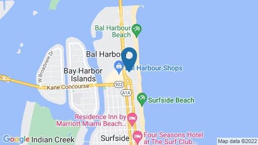 The St. Regis Bal Harbour Resort Map