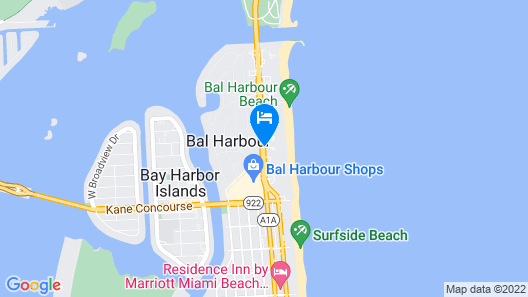 Sea View Hotel, Bal Harbour, On The Ocean Map