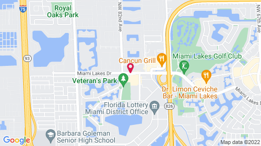 TownePlace Suites By Marriott Miami Lakes Map
