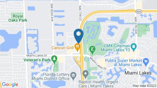 Sonesta Select Miami Lakes Map