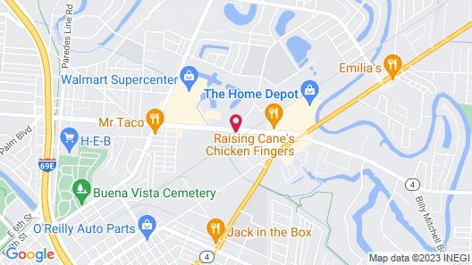 Boca Chica Inn & Suites Brownsville Map