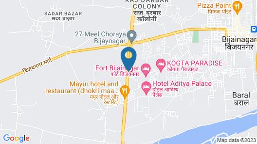 Bijainagar Fort by 1589 Map