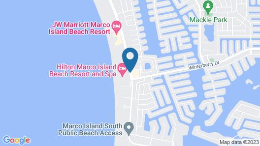 Hilton Marco Island Beach Resort Map