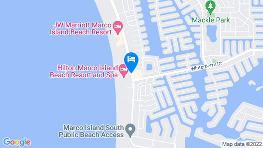 Hilton Marco Island Beach Resort Map